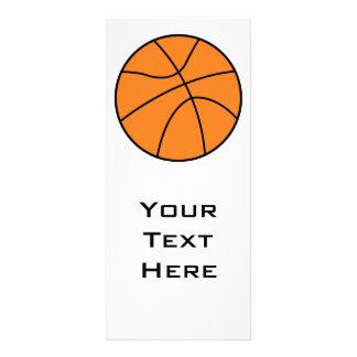 design simples do vetor do basquetebol panfleto personalizado