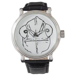 Design simples subtil do relógio do camaleão