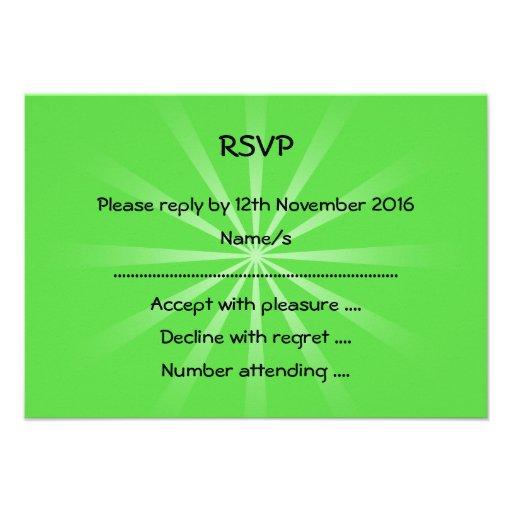 Design simples verde convites