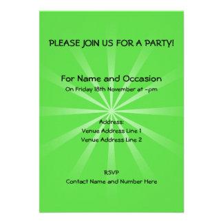 Design simples verde convite