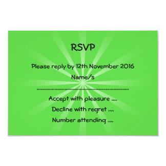 Design simples verde convite 8.89 x 12.7cm