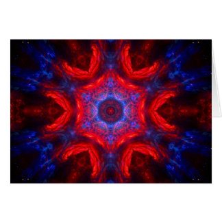 Design sparkling das estrelas vermelhas & azuis da cartão comemorativo