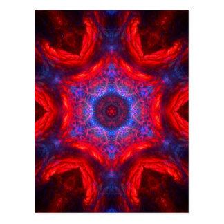 Design sparkling das estrelas vermelhas & azuis da cartão postal