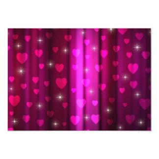 Design Sparkling dos corações Convite