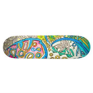 Design subaquático abstrato da plataforma do skate