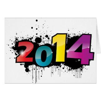 Design subterrâneo do ano novo. 2014 cartão comemorativo