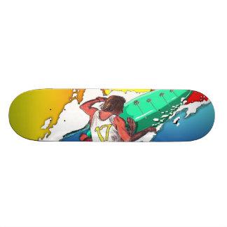 Design surfando da arte da plataforma do skate do