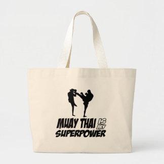 Design tailandês da superpotência de Muay Sacola Tote Jumbo