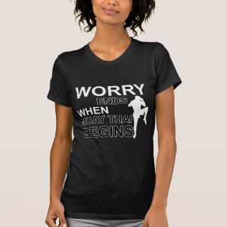 design tailandês muay camiseta