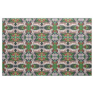 Design telhado tecido da arte popular do coelho do