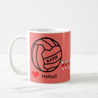 Design temático personalizado da bola do Netball Caneca De Café