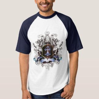 Design transversal azul à moda camiseta