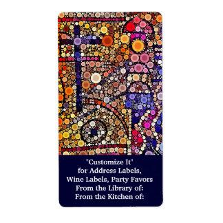 Design transversal do sudoeste do mosaico colorido etiqueta de frete