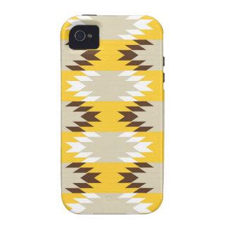 Design tribal asteca do nativo americano de Brown  Capinhas iPhone 4/4S