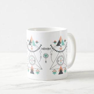 Design tribal colorido do Totem Caneca De Café