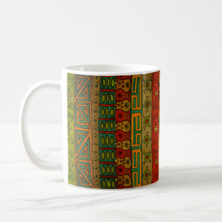 Design tribal étnico de matéria têxtil caneca de café