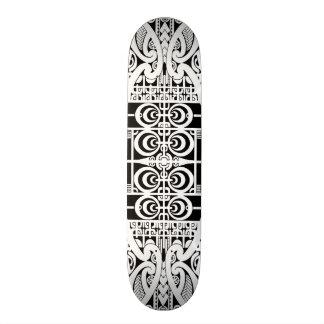 Design tribal maori e de Marquesas do tatuagem Shape De Skate 19,7cm