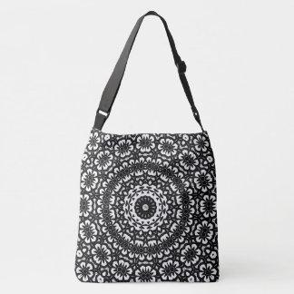 Design tribal preto & branco do caleidoscópio bolsas carteiro