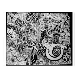 Design Trippy da arte Cartão Postal