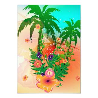Design tropical do verão convites personalizados