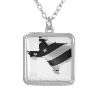 Design txt.gif branco de Harvey Colar Banhado A Prata