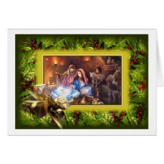 Design ucraniano do cartão do Feliz Natal