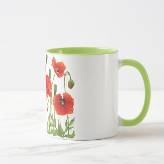 Design ucraniano vermelho da caneca de café das