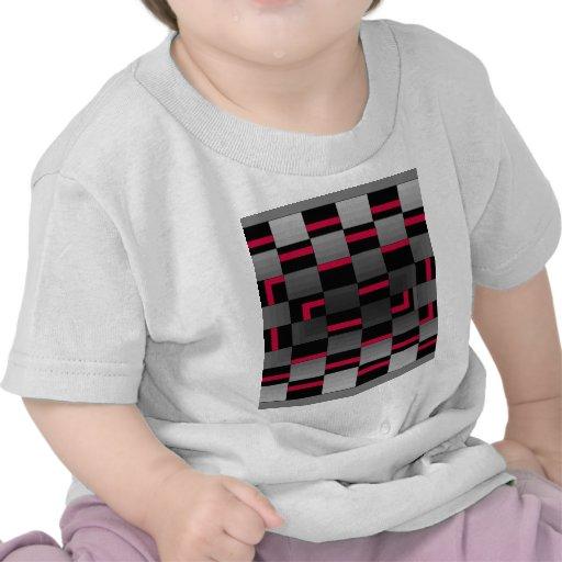 Design urbano da cidade vermelha de néon do tabule t-shirt