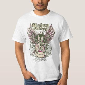 Design urbano da sapatilha da cultura camiseta