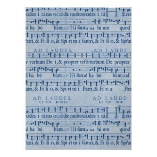 Design velho do papel azul de contagem musical convites personalizados