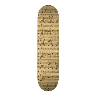Design velho do papel de pergaminho da contagem mu skates personalizados