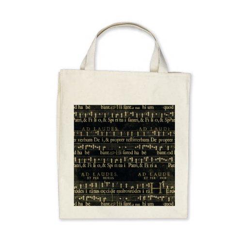 Design velho do quadro da contagem musical bolsas de lona