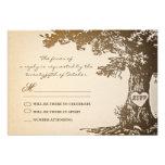 design velho do rsvp do casamento vintage da árvor convites personalizados