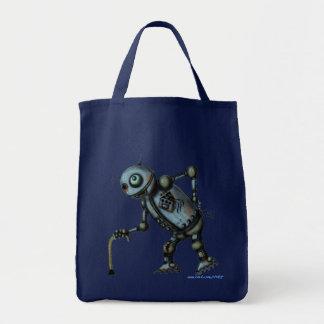 Design velho legal engraçado do saco do robô bolsa para compra