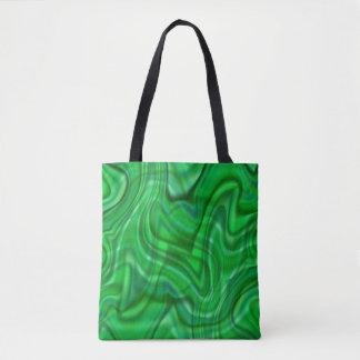 Design verde abstrato do redemoinho bolsa tote