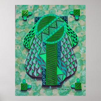Design verde de Deco Impressão