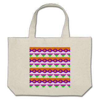 Design verde de néon cor-de-rosa e da laranja do a bolsas de lona
