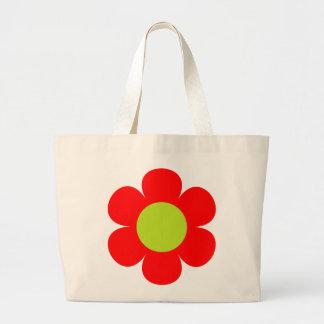 Design vermelho da flor bolsa
