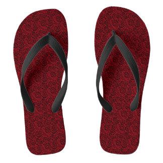 Design vermelho do Arabesque Chinelos