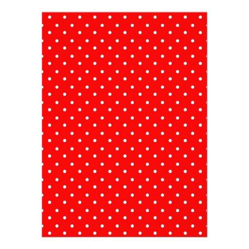 Design vermelho e branco da papoila das bolinhas convite
