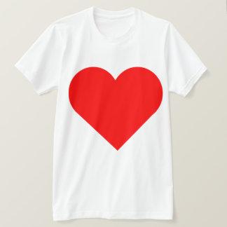 Design vermelho muito grande do impressão do dobro camiseta