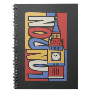 Design vibrante de Londres, Inglaterra | Handrawn Cadernos Espiral