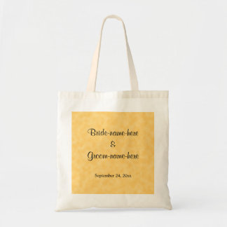 Design Wedding no amarelo e no preto Sacola Tote Budget