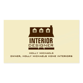 Designer de interiores - casa do estilo do cabo de modelo cartoes de visitas