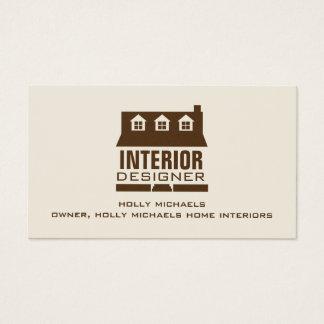 Designer de interiores - casa do estilo do cabo de cartão de visitas