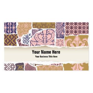 Designer de interiores/decorador profissionais cartão de visita