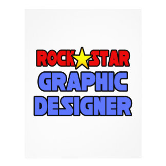 Designer gráfico da estrela do rock modelo de panfletos