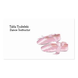 Deslizadores cor-de-rosa dos calçados de balé cartão de visita