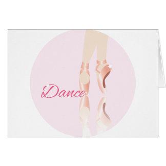Deslizadores do balé da dança cartao