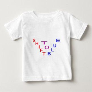 Desloque ao design azul camiseta para bebê